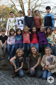 Singen zusammen bei der Musikschule: Die Kinder des Jugendchores